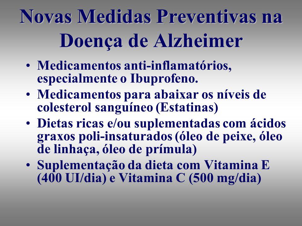 Novas Medidas Preventivas na Doença de Alzheimer Medicamentos anti-inflamatórios, especialmente o Ibuprofeno.
