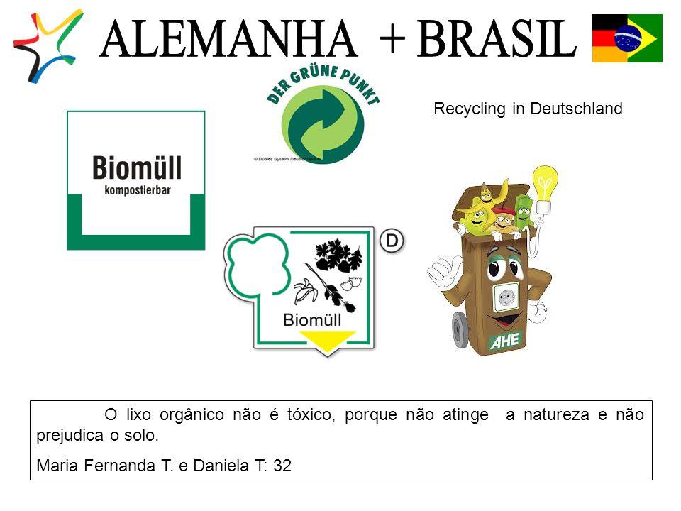 O lixo orgânico não é tóxico, porque não atinge a natureza e não prejudica o solo.
