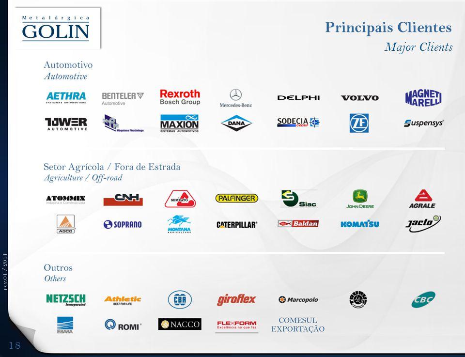 rev.01 / 2011 Principais Clientes Major Clients 18