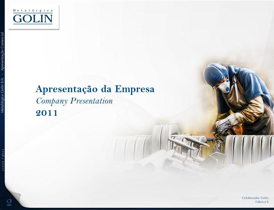rev.01 / 2011 Histórico da Empresa Company History 3