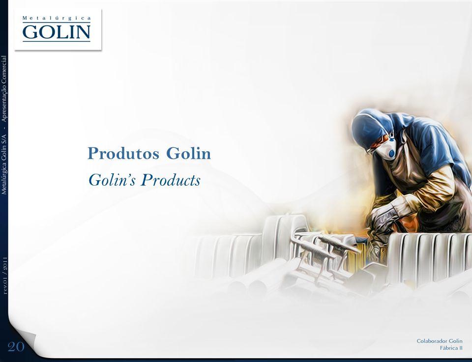 rev.01 / 2011 Produtos Golin Golins Products 20