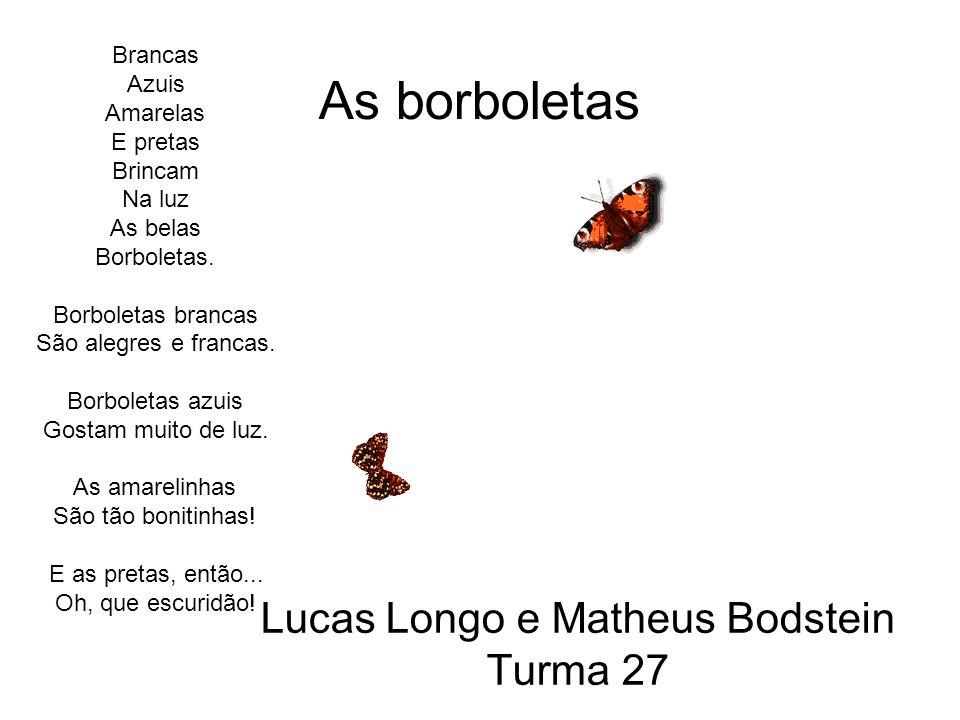 Lucas Longo e Matheus Bodstein