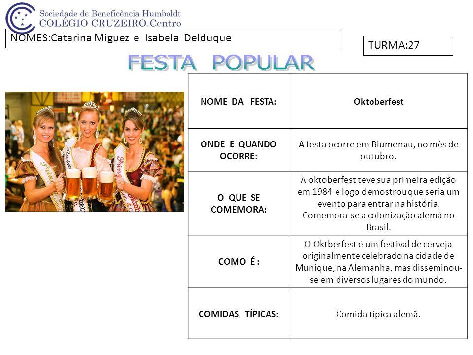 NOME DA FESTA:Festa da Primavera ONDE E QUANDO OCORRE: Ocorre em Curitiba, no mês de setembro.