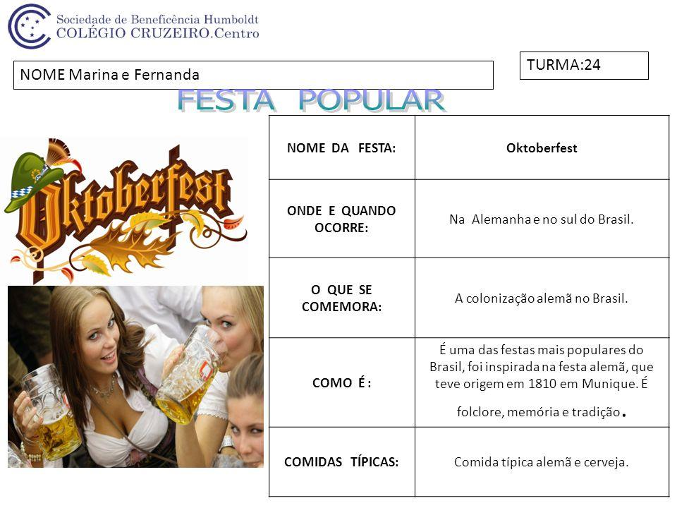 NOME DA FESTA:Festa da Uva ONDE E QUANDO OCORRE: Caxias do Sul, a cada 2 anos.