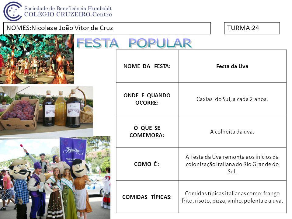 NOME DA FESTA:Festa Primavera ONDE E QUANDO OCORRE: Em Curitiba, no mês de setembro.