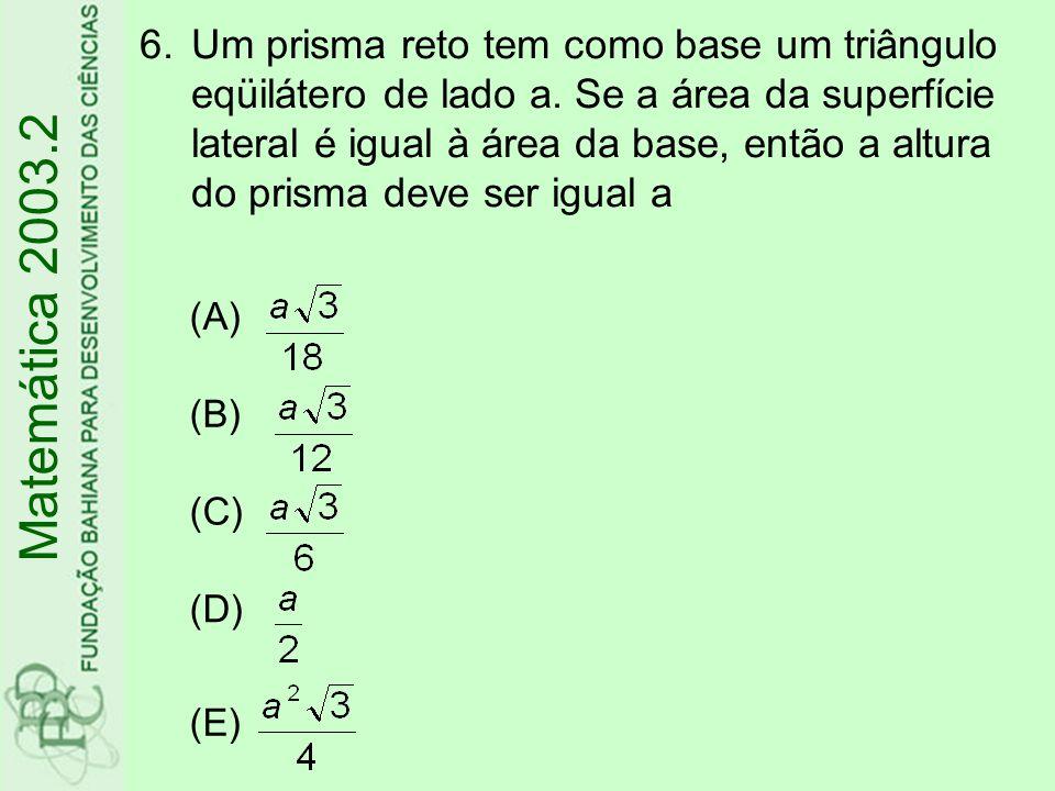 (A) (B)(5 ; 20) (C)(8 ; 4) (D)(12 ; 5) (E)(20 ; 5) 7.Na figura, o coeficiente angular da reta r é.