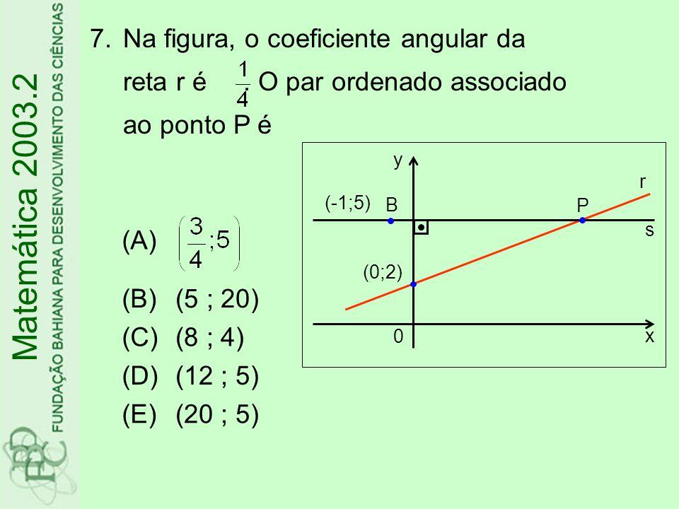 8.Os valores reais de a e b tais que a.i 25 -b.i 32 =1+4.i são, respectivamente, (A)4 e -1 (B)1 e 4 (C)1 e -4 (D)-1 e 4 (E)-4 e -1 Matemática 2003.2