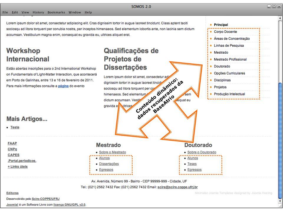Ainda tem dúvidas? Mande um email para: atrio@scire.coppe.ufrj.br