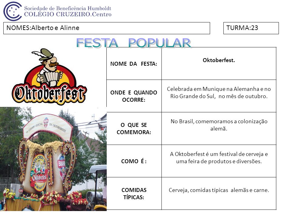NOME DA FESTA:Festival de Parintins ONDE E QUANDO OCORRE: Nas três noites do último final de semana de junho, na cidade de Parintins.