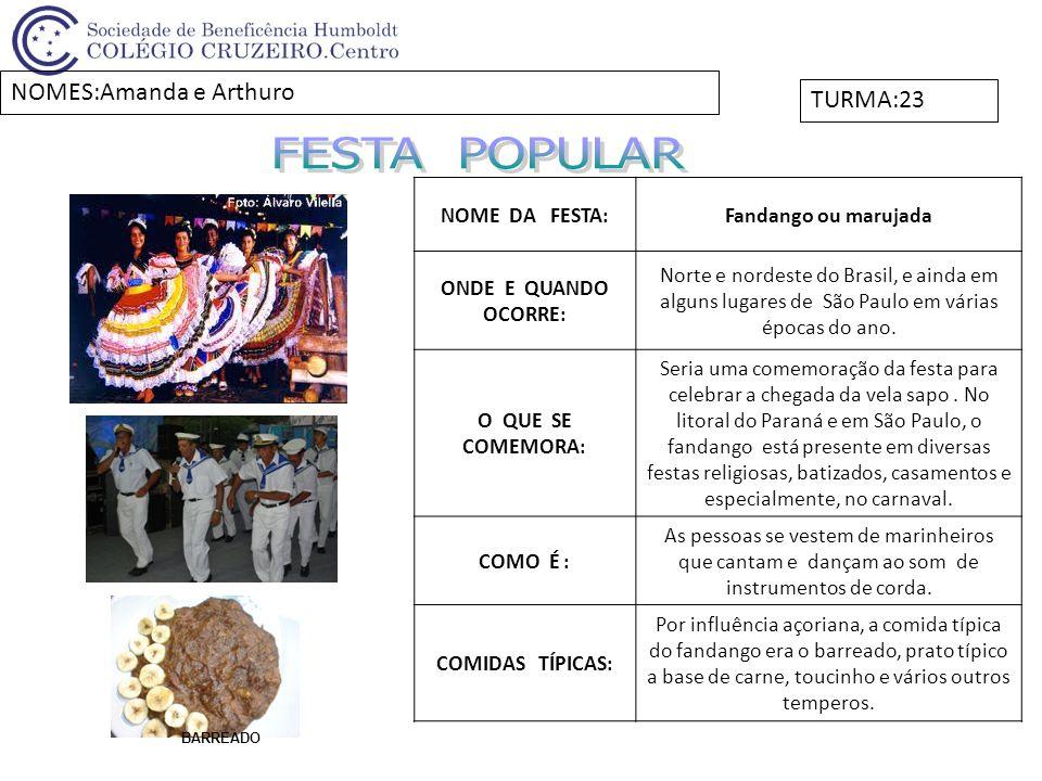 NOME DA FESTA:Oktoberfest ONDE E QUANDO OCORRE: No Brasil, é realizada em Blumenau, no mês de outubro.