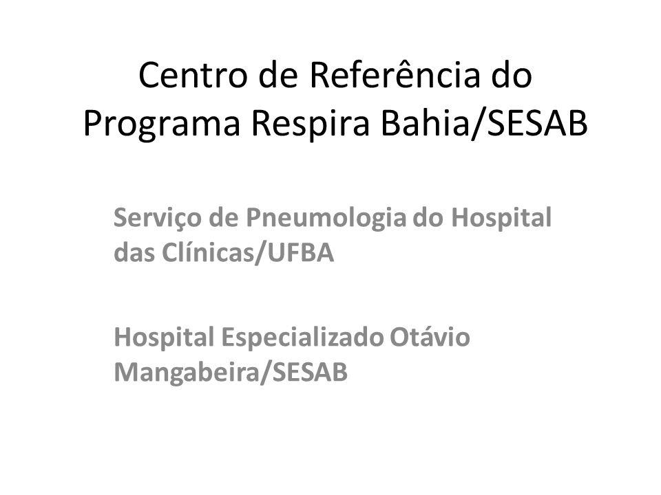 Centro de Referência do Programa Respira Bahia/SESAB Serviço de Pneumologia do Hospital das Clínicas/UFBA Hospital Especializado Otávio Mangabeira/SESAB