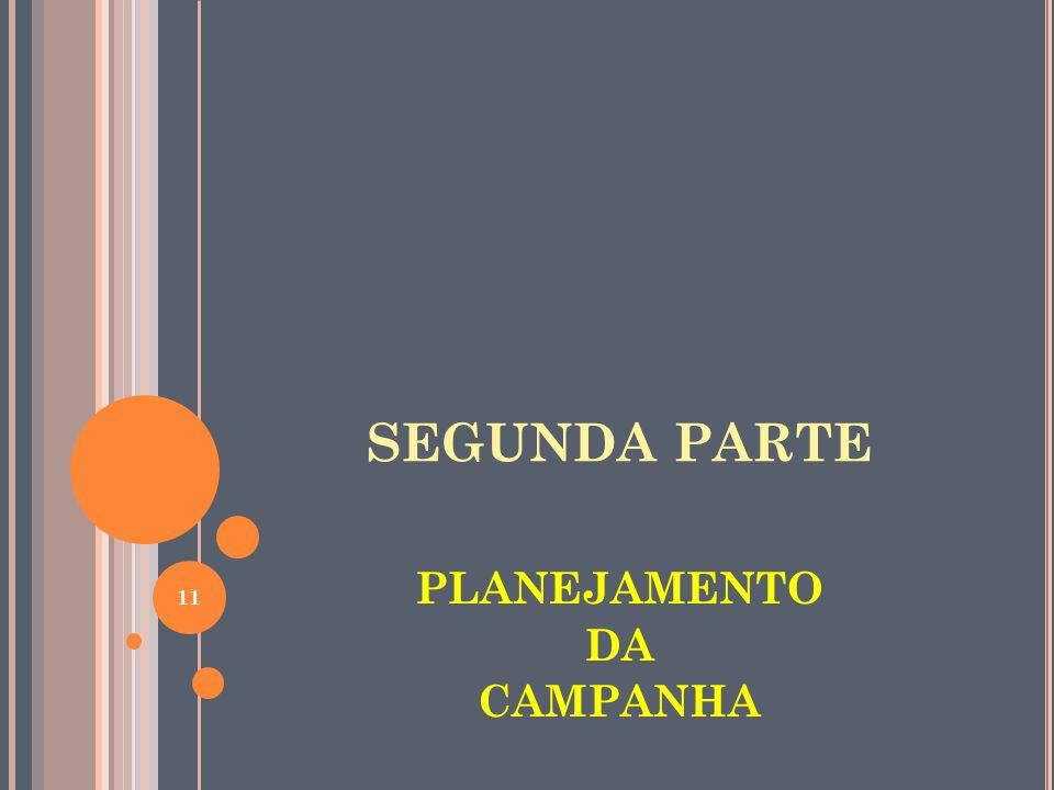 SEGUNDA PARTE PLANEJAMENTO DA CAMPANHA 11