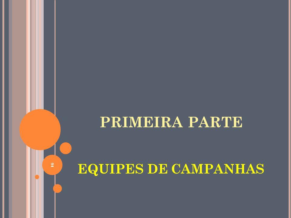 PRIMEIRA PARTE EQUIPES DE CAMPANHAS 2