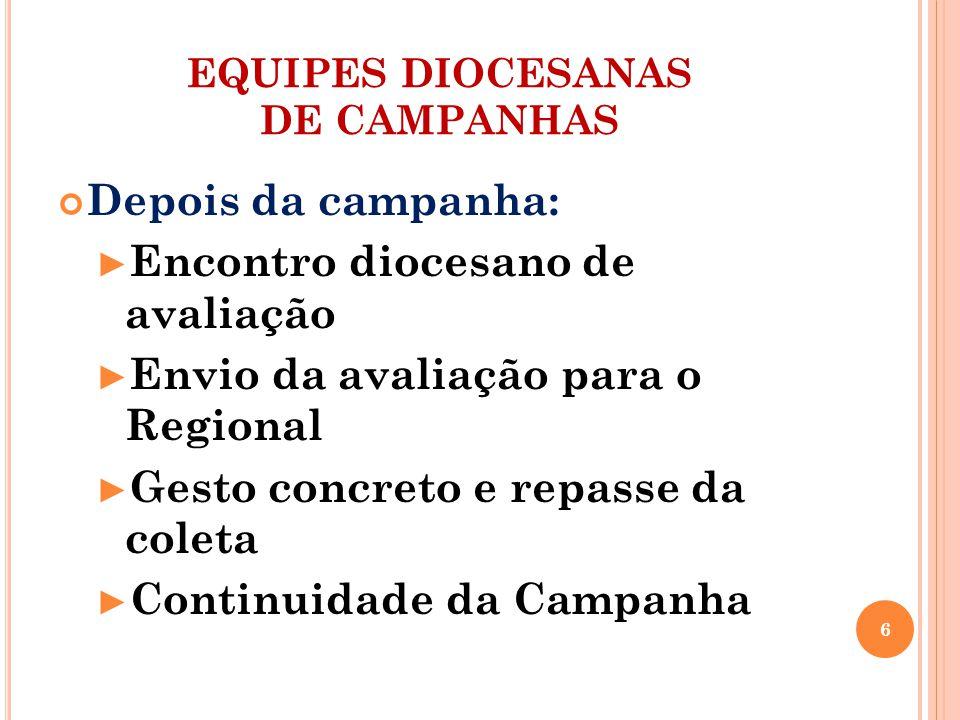 EQUIPES PAROQUIAIS DE CAMPANHAS Compete-lhe: Fazer acontecer a Campanha nas famílias, comunidades e grupos Articular a Campanha com toda atividade evangelizadora 7