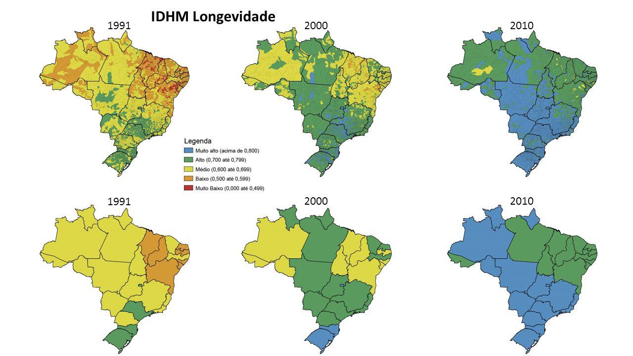 Estadual Municipal Mortalidade Infantil IDHM Longevidade – 2010 Correlação: -0,967