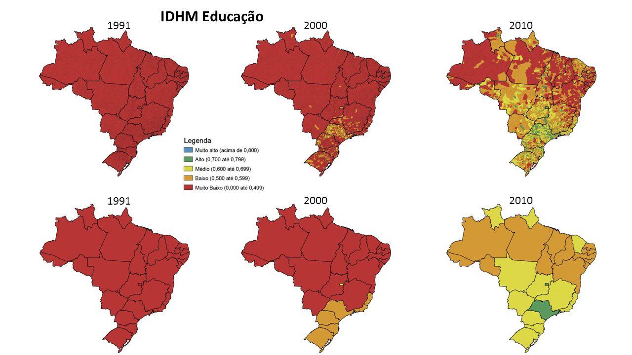 Estadual Municipal IDEB (2011) Correlação: 0,631 IDHM Educação – 2010