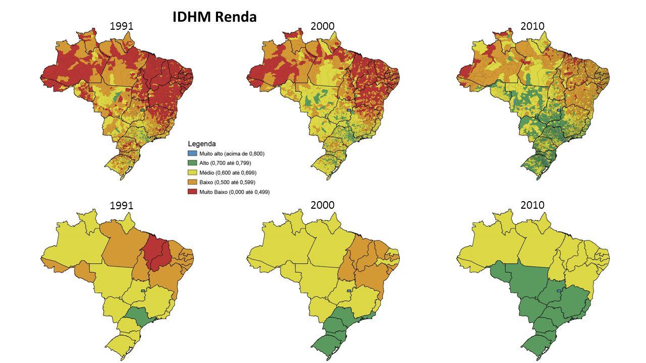 Estadual Municipal PIB PER CAPITA IDHM Renda – 2010