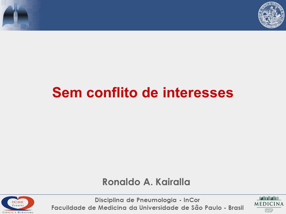 Sem conflito de interesses Ronaldo A. Kairalla Disciplina de Pneumologia - InCor Facuildade de Medicina da Universidade de São Paulo - Brasil