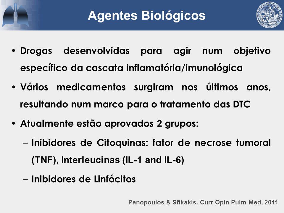 Drogas desenvolvidas para agir num objetivo específico da cascata inflamatória/imunológica Vários medicamentos surgiram nos últimos anos, resultando n