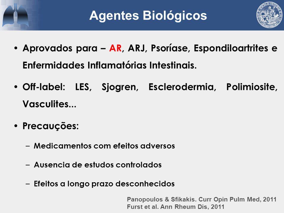Aprovados para – AR, ARJ, Psoríase, Espondiloartrites e Enfermidades Inflamatórias Intestinais. Off-label: LES, Sjogren, Esclerodermia, Polimiosite, V