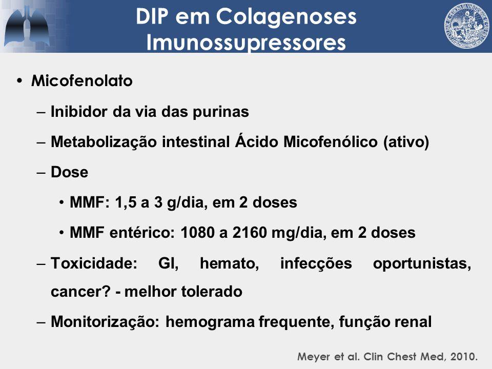 Metotrexato –Análogo do ácido fólico –Metabolização hepática – ativo por 7 dias –Dose: 7,5 mg/semanal (início), 25 mg/semanal (máx) Ácido fólico: 1 mg/dia ou 5 mg no dia seguinte.