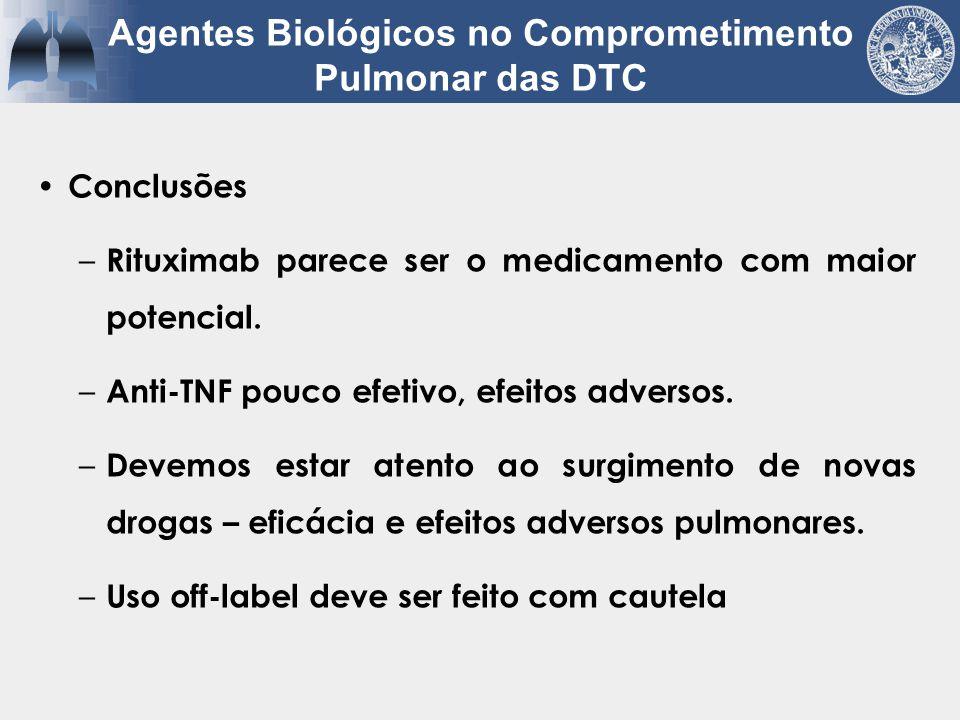 Conclusões – Rituximab parece ser o medicamento com maior potencial. – Anti-TNF pouco efetivo, efeitos adversos. – Devemos estar atento ao surgimento