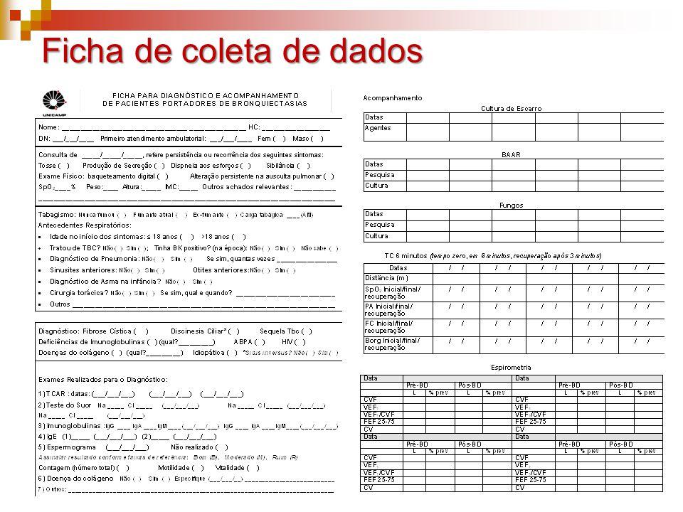 Ficha de coleta de dados
