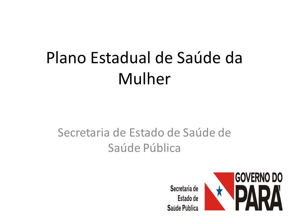 Plano Estadual de Saúde da Mulher Secretaria de Estado de Saúde de Saúde Pública