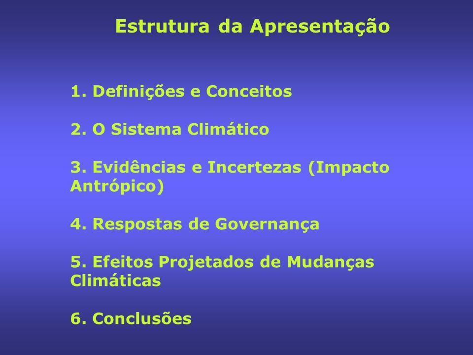 I- Definições e Conceitos Elementos essenciais envolvidos: - Energia (alimento e movimento) - Água (vida e energia) - Clima (energia, vida e água) Mudanças Climáticas