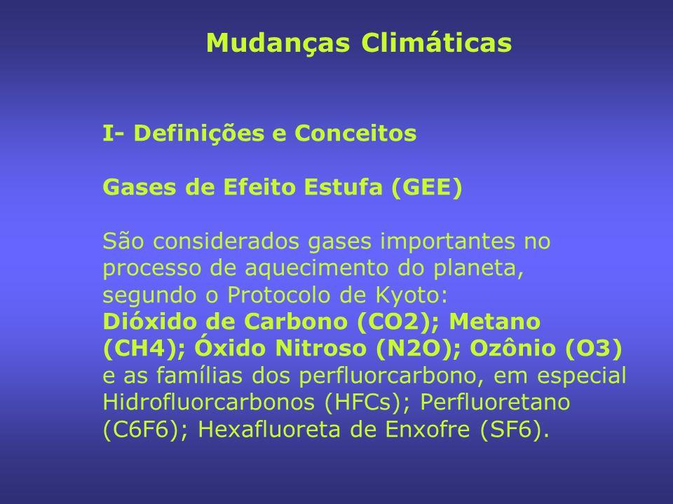 II- O Sistema Climático ( IPCC, TAR, 2001) Mudanças Climáticas