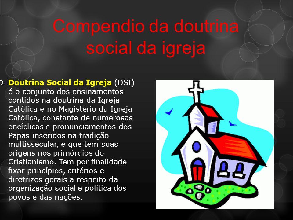 Doutrina social católica a Doutrina Social Católica foi uma proposta que procurou se colocar com alternativa as demais e reconhecia a falta de pratici