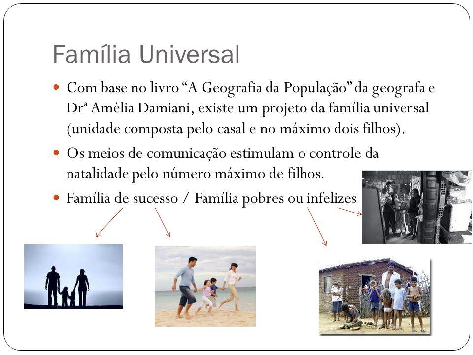 Família Universal Com base no livro A Geografia da População da geografa e Drª Amélia Damiani, existe um projeto da família universal (unidade compost