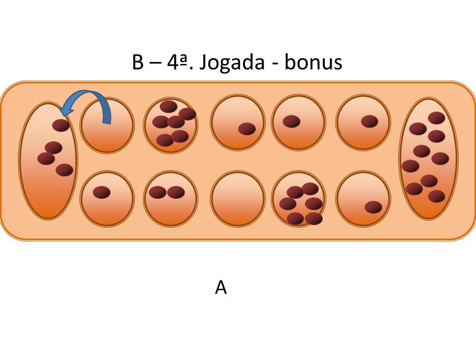 B – 4ª. Jogada - bonus A
