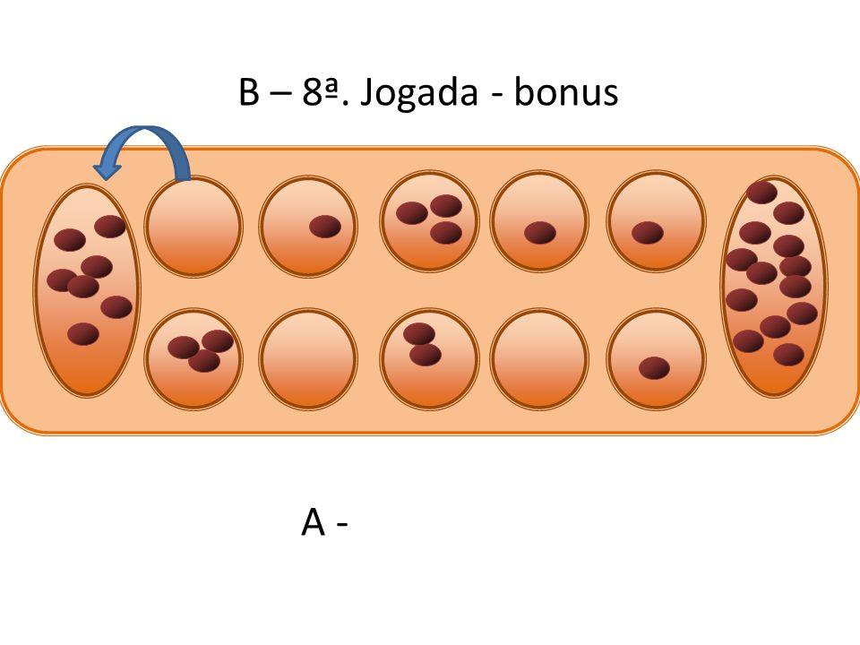 B – 8ª. Jogada - bonus A -