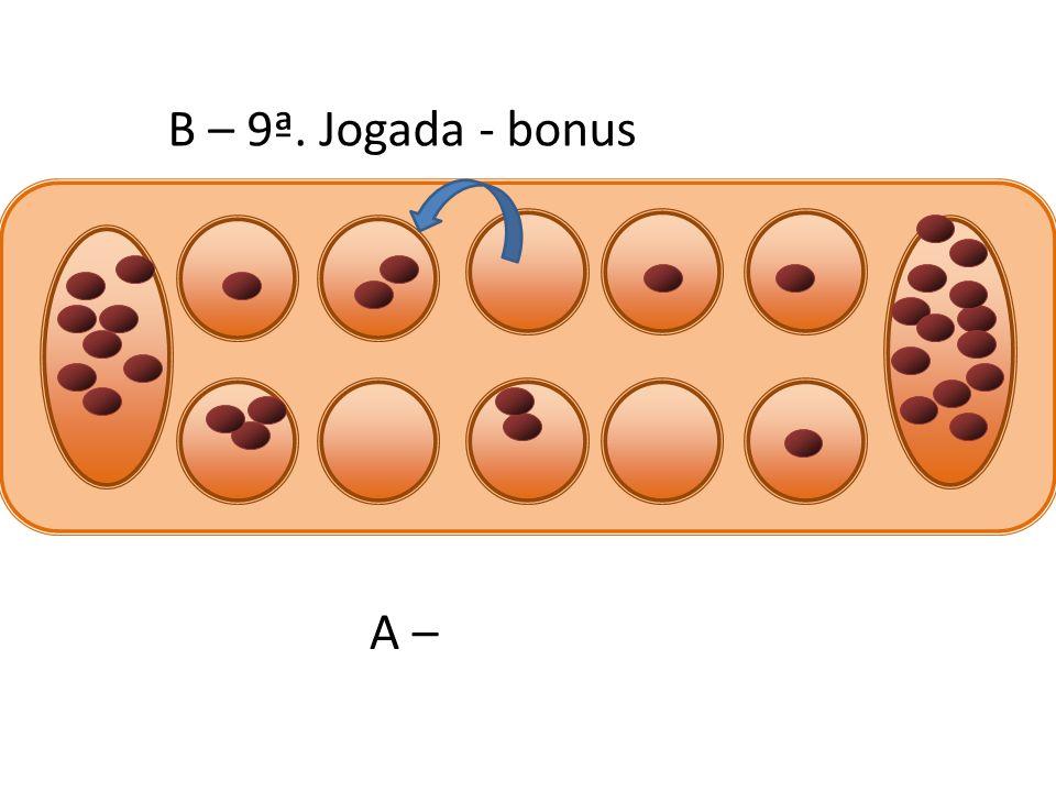 B – 9ª. Jogada - bonus A –