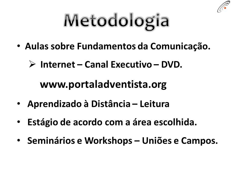 Aulas sobre Fundamentos da Comunicação. Internet – Canal Executivo – DVD.