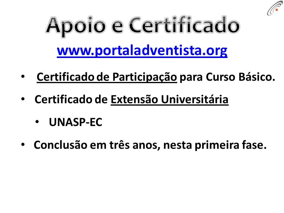 Certificado de Participação para Curso Básico.