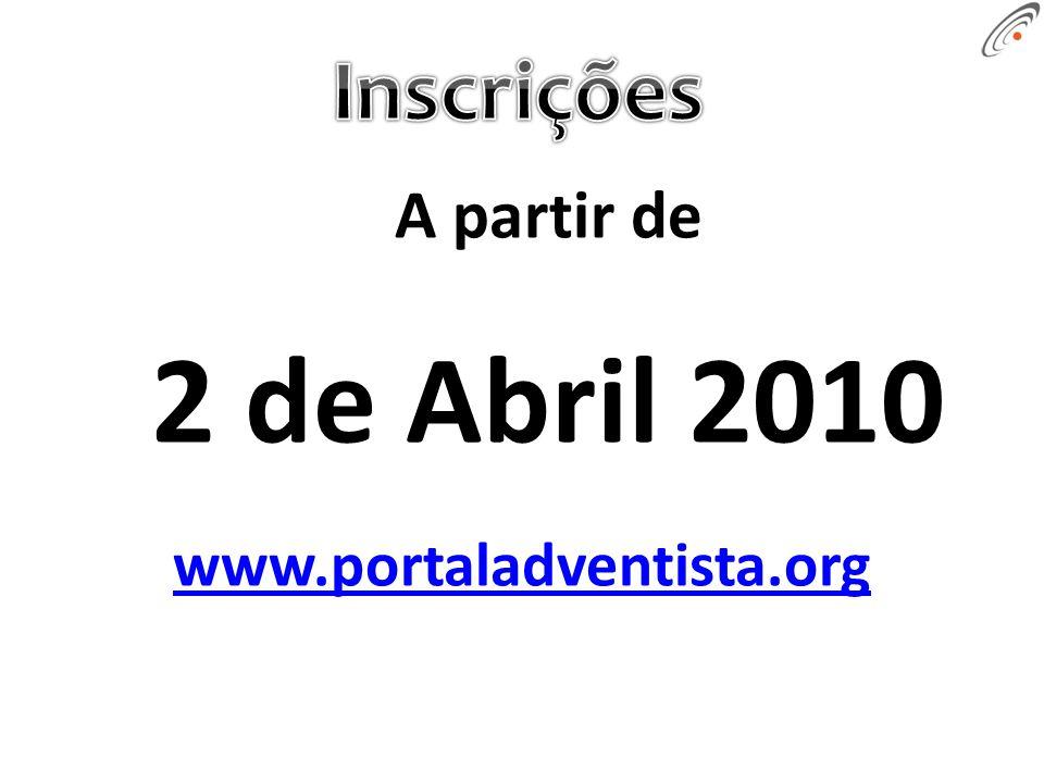 A partir de 2 de Abril 2010 www.portaladventista.org
