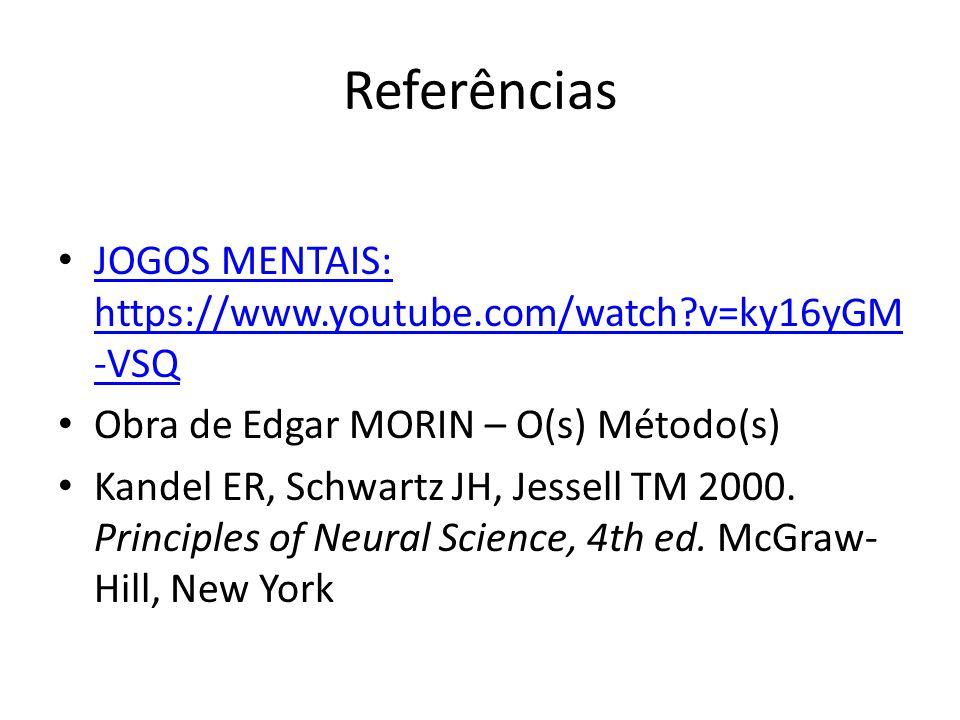 Referências JOGOS MENTAIS: https://www.youtube.com/watch?v=ky16yGM -VSQ JOGOS MENTAIS: https://www.youtube.com/watch?v=ky16yGM -VSQ Obra de Edgar MORI