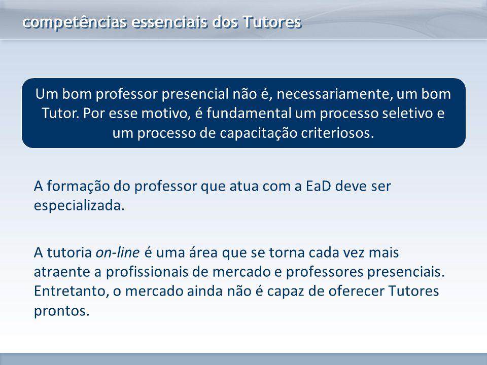 www.fgv.br/fgvonline Um bom professor presencial não é, necessariamente, um bom Tutor. Por esse motivo, é fundamental um processo seletivo e um proces