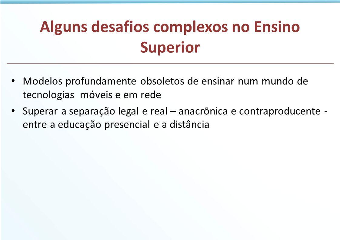 Entrando em uma nova fase na EAD no Brasil Fase experimental, de aprendizado inicial (a partir do presencial) Fase de forte regulação (modelo semipresencial predominante) Fase de amadurecimento e de intensas mudanças