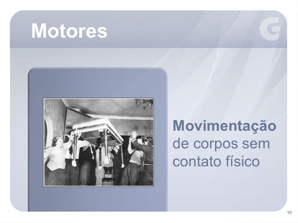 10 Motores Movimentação de corpos sem contato físico