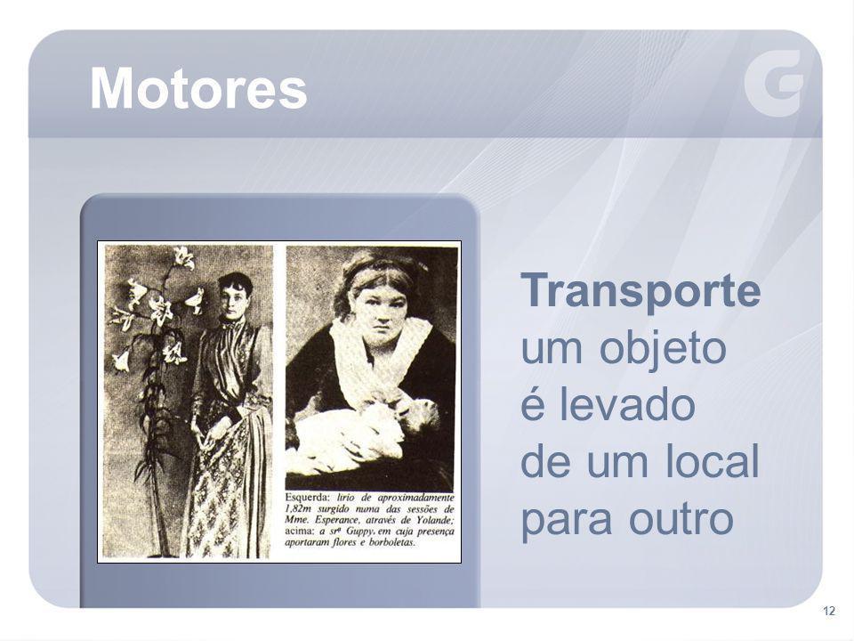 12 Motores Transporte um objeto é levado de um local para outro
