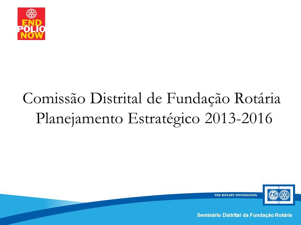 Comissão Distrital da Fundação Rotária – Distrito 4420Seminário Distrital da Fundação Rotária Comissão Distrital de Fundação Rotária Planejamento Estratégico 2013-2016