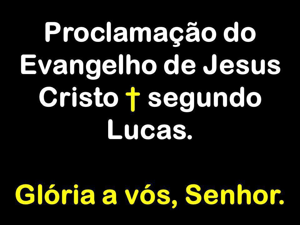 Proclamação do Evangelho de Jesus Cristo segundo Lucas. Glória a vós, Senhor.