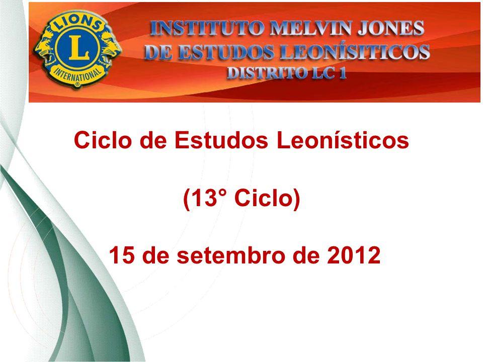 Ciclo de Estudos Leonísticos (13° Ciclo) 15 de setembro de 2012