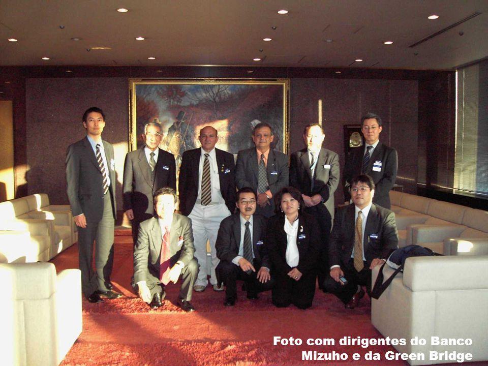 Foto com dirigentes do Banco Mizuho e da Green Bridge