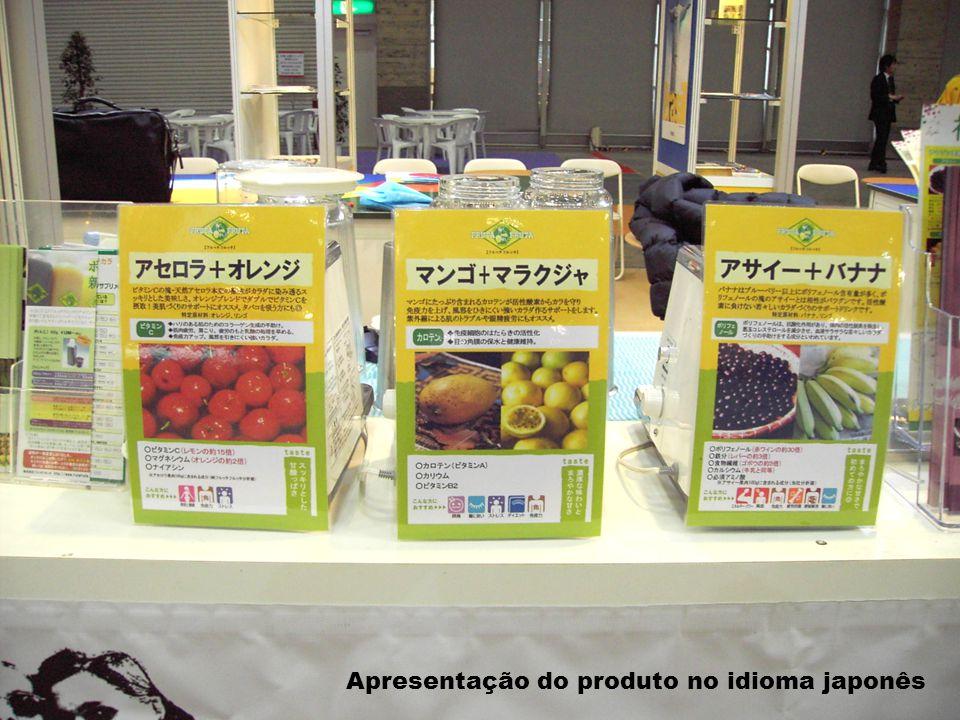 Apresentação do produto no idioma japonês