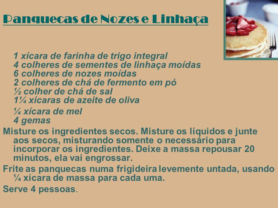 Salada Marroquina ::ingredientes 250g de trigo em grãos 1 xícara de castanha de caju 1 colher (sopa) de sementes de linhaça 1 colher (sopa) de sementes de gergelim 1 cebola picada 1 dente de alho 1 pepino em cubos 1 pimentão amarelo picado 1 xícara de salsinha 1/2 xícara de azeitonas 2 tomates picados 1 xícara de abacate picado 1 pote de iogurte desnatado ½ xícara de azeite Sal a gosto Para decorar; Folhas de alface eTomate cereja Modo de Fazer: Cozinhar o alho e o trigo em grãos.