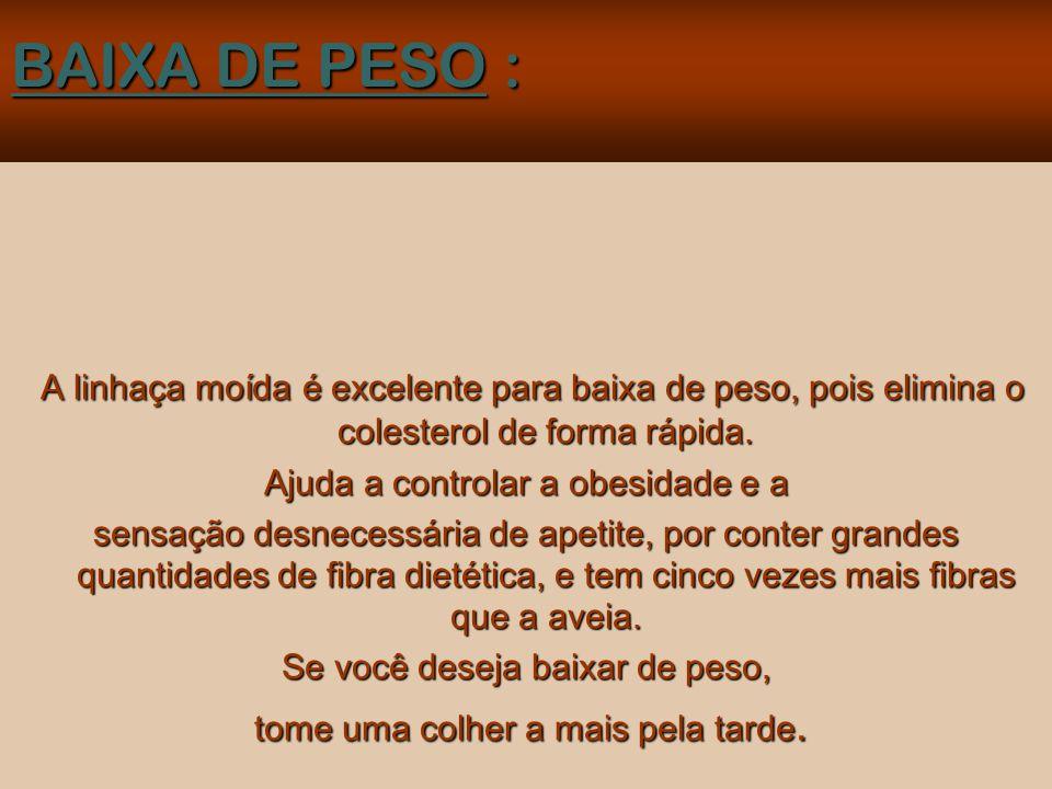 MODO DE USAR: Duas colheres de sopa por dia, batidas no liquidificador, se misturam em um copo de suco de fruta; ou sobre a fruta, ou com aveia, ou com iogurte no desjejum ou no almoço.